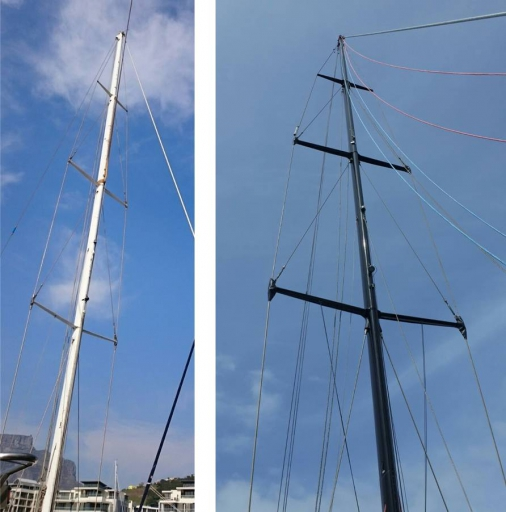 mast before & after